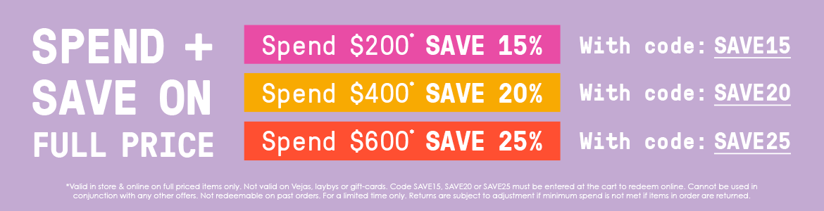 Spend & Save on full price