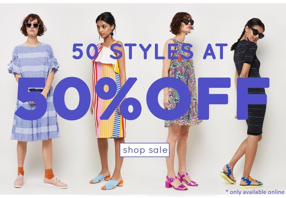 50 styles at 50% off