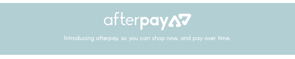 now accepting afterpay